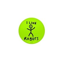 Funny First robotics Mini Button (10 pack)