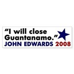 John Edwards on Guantanamo bumper sticker