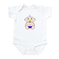 Russian Flag Nappy design Infant Bodysuit