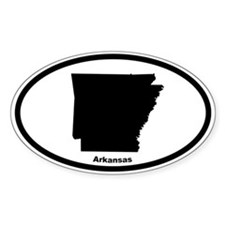 Arkansas State Outline Oval Decal