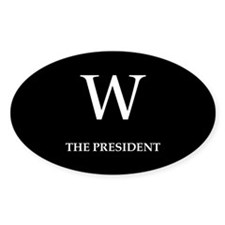 GEORGE W. BUSH Oval Decal