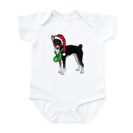 Basenji Christmas Infant Bodysuit