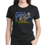 Starry Night / Border Terrier Women's Dark T-Shirt