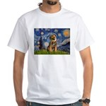 Starry Night / Border Terrier White T-Shirt