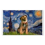 Starry Night / Border Terrier Sticker (Rectangle)