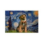 Starry Night / Border Terrier Rectangle Magnet (10