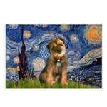 Starry Night / Border Terrier Postcards (Package o