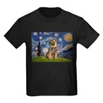 Starry Night / Border Terrier Kids Dark T-Shirt