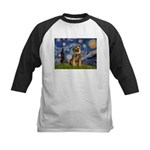 Starry Night / Border Terrier Kids Baseball Jersey