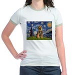 Starry Night / Border Terrier Jr. Ringer T-Shirt