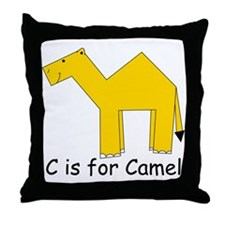 C is for Camel Throw Pillow