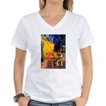 Ter Cafe / Border T Women's V-Neck T-Shirt