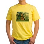 Lilies 1 / Border T Yellow T-Shirt