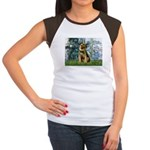Lilies 1 / Border T Women's Cap Sleeve T-Shirt