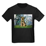 Lilies 1 / Border T Kids Dark T-Shirt
