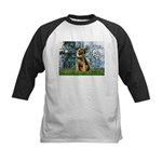 Lilies 1 / Border T Kids Baseball Jersey