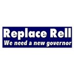 Replace Rell Bumper Sticker