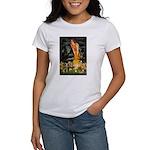 Mid Eve/Border T Women's T-Shirt