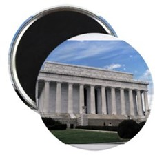 "Cute Lincoln memorial 2.25"" Magnet (10 pack)"