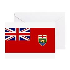 Manitoba Flag Greeting Card