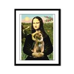 Mona & Border Terri Framed Panel Print