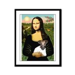 Mona & Fox Terrier Framed Panel Print