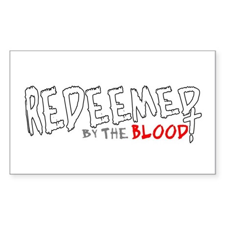 Redeemed by the Blood Rectangle Sticker