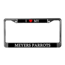 I Love My Meyers Parrots License Plate Frame