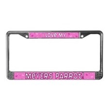 Pink Polka Dot Meyers Parrot License Plate Frame