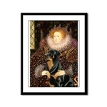 Queen & Rottie Framed Panel Print