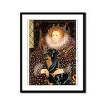 Queen & Rottie Framed Panel Print