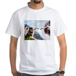 Creation/Rottweiler White T-Shirt