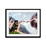 Creation/Rottweiler Framed Panel Print