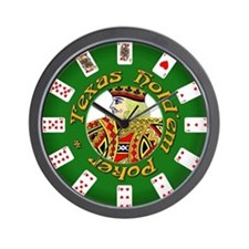 Texas Hold'em Wall Clock