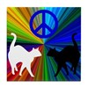 PEACE CATS Tile Coaster