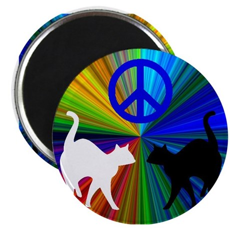 PEACE CATS Magnet