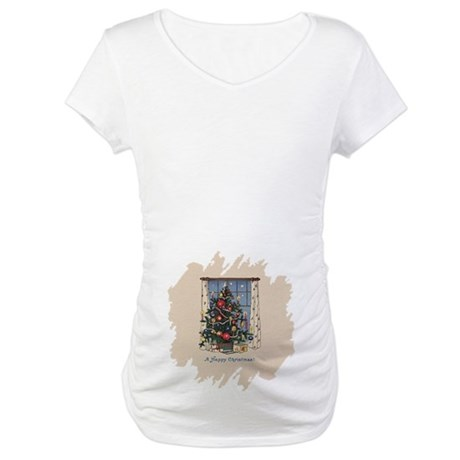 Christmas Tree Maternity T-Shirt