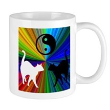 YIN-YANG RAINBOW CATS Coffee Mug