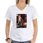Accolade / Rottweiler Women's V-Neck T-Shirt