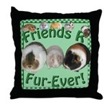 Friends R Fur-Ever Throw Pillow