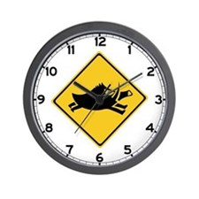 Beware of Wild Boars, Japan Wall Clock