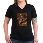 The Path / Rottie Women's V-Neck Dark T-Shirt