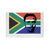 Biko on South African Flag Rectangle Magnet (10 pa