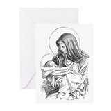 Mary and Baby Jesus Christmas Cards (Pk of 10)