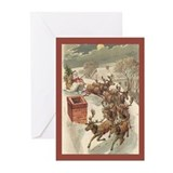 Retro christmas Greeting Cards (10 Pack)
