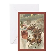 Up On The Housetop Christmas Cards (Pk of 10)