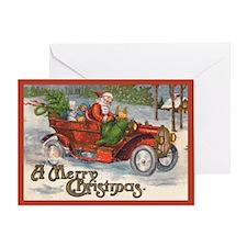 Santa's Vintage Jalopy Christmas Card