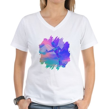 Angel of Light Women's V-Neck T-Shirt