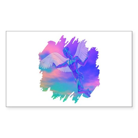 Angel of Light Rectangle Sticker