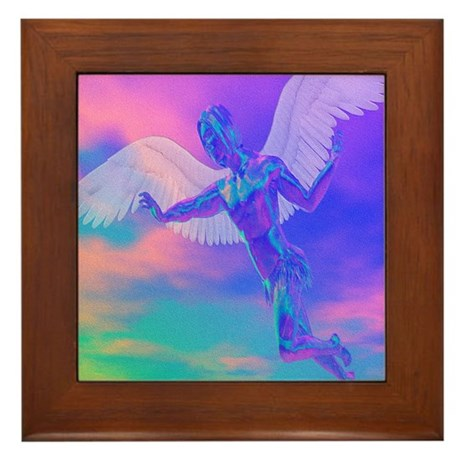 Angel of Light Framed Tile